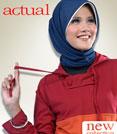 busana muslim bahan kaos - Actual Basic